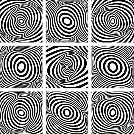 torsion: Torsion movement. Abstract illustrations set. Vector art. Illustration
