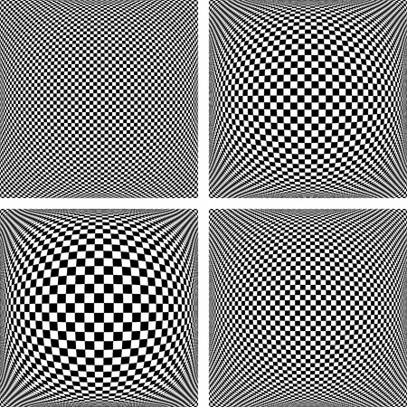 textured backgrounds: Chequered patterns set. Abstract textured geometric backgrounds. Vector art.