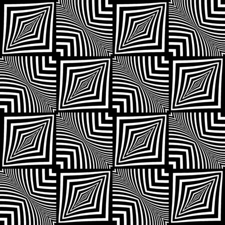 checked: Seamless wavy checked pattern. Geometric texture. Vector art. Illustration