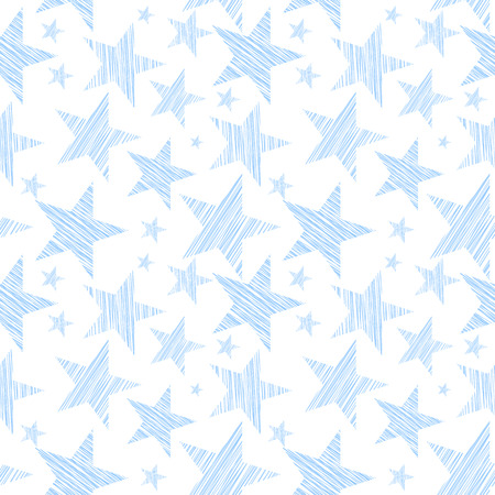 either: Stars seamless pattern for background, wallpaper either fabric. Vector art.