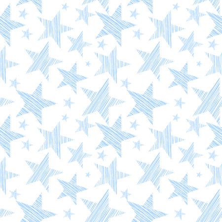 Sterne nahtlose Muster für Hintergrund, Tapete entweder Stoff. Vector art. Standard-Bild - 46010013
