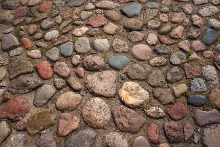 Cobble-stones roadway. Stock Photo