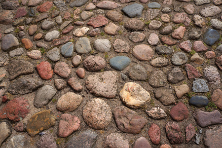 roadway: Cobble-stones roadway. Stock Photo