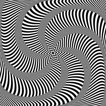 torsion: Torsion and rotation movement. Vector art. Illustration