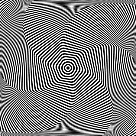 Torsion and rotation. Dynamic effect. Vector art.