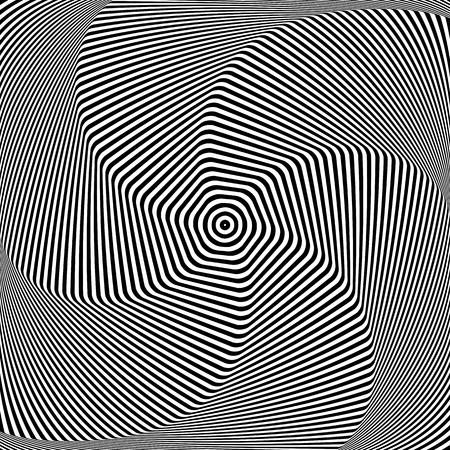 torsion: Torsion and rotation. Dynamic effect. Vector art.