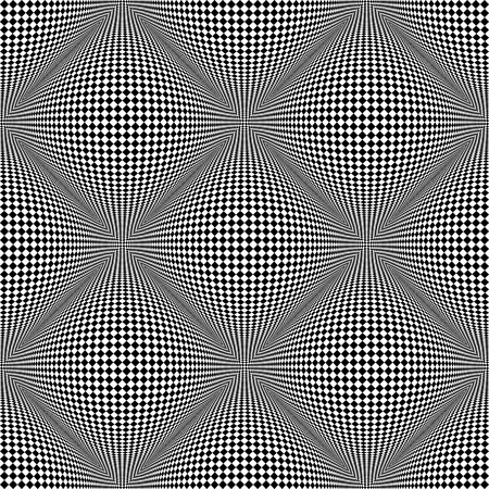 checked: Seamless checked pattern. 3D optical illusion. Vector art Illustration
