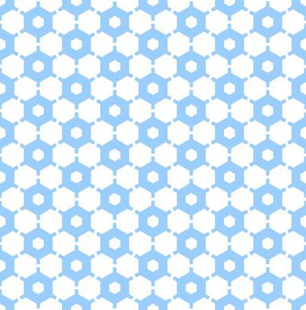 iteration: Seamless hexagons pattern. Geometric texture. Vector art.