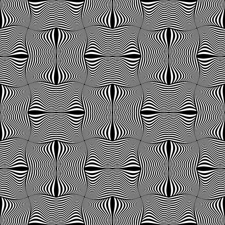 op: Seamless geometric op art pattern. Vector graphics.