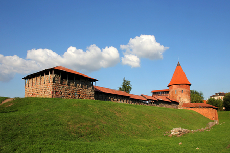 gothic castle: Old gothic Castle in Kaunas, Lithuania.
