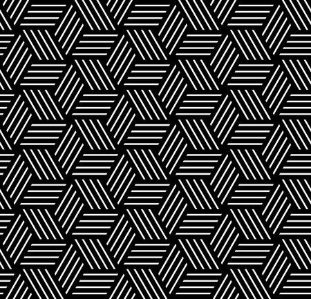 Naadloze op-art patroon. Geometrische structuur. Vector art. Stock Illustratie
