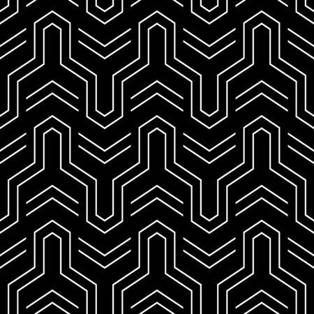 iteration: Seamless geometric pattern. Vector art.