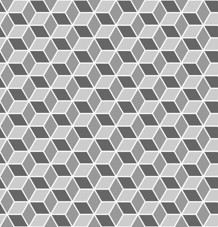 monochromic: Seamless geometric texture. Optical 3D effect. Vector art.