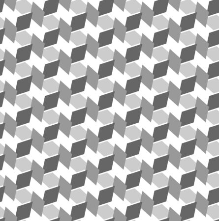 monochromic: Seamless geometric texture. Optical 3D effect. Vector art.