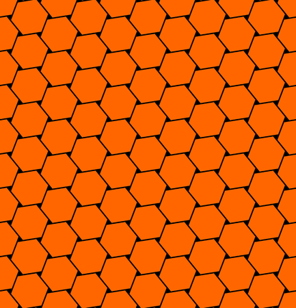 tessellated: Hexagons  pattern. Seamless geometric texture. Vector art.