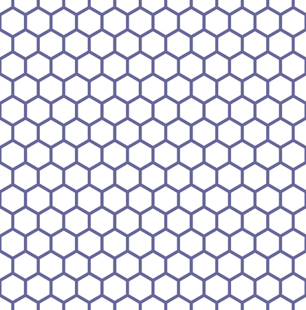Seamless hexagons texture. Honeycomb latticed pattern. Vector art. Illustration