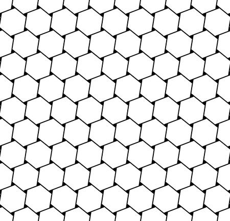Hexagons latticed pattern. Seamless geometric texture.