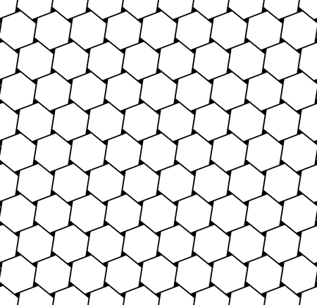 mesh: Hexagons latticed pattern. Seamless geometric texture.