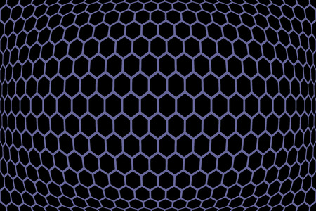 cancellated: Hexagons  pattern. Geometric texture. Vector art. Illustration