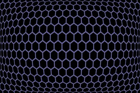meshy: Hexagons  pattern. Geometric texture. Vector art. Illustration