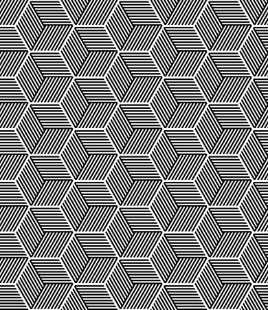 hexagonal pattern: Seamless op art pattern. Geometric texture. Vector art.