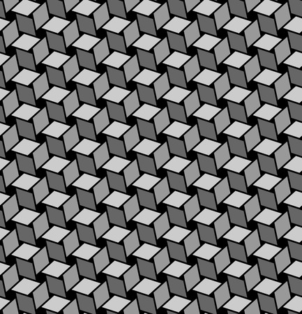 black fabric: Seamless geometric texture with optical effects. Vector art. Illustration