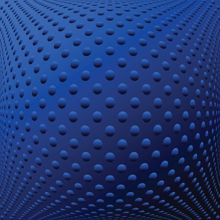 convex: Abstract blue textured convex background. Vector art.