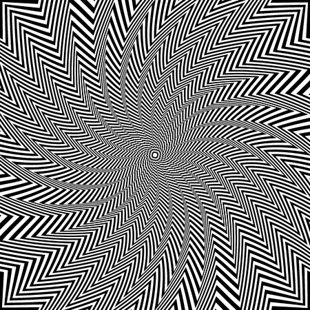 torsion: Illusion of rotation and torsion movement. Vector art.