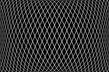 Diamonds pattern. 3D geometric latticed texture.  Vector art.
