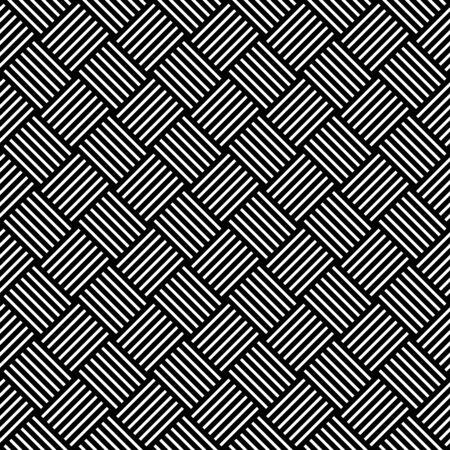 interweaving: Seamless checked pattern. Geometric texture. Vector art.