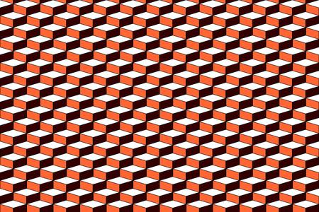Naadloos patroon met 3D-optisch effect. Geometrische structuur. Vector art.