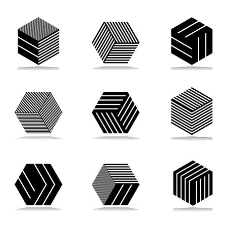 abstract design elements: Design elements set. Abstract geometric icons.