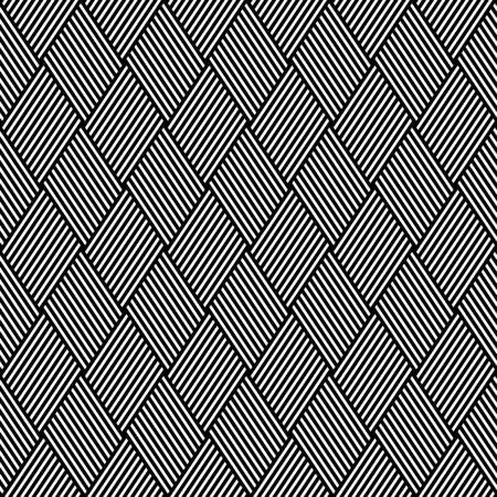 interweaving: Striped diamonds pattern. Seamless geometric texture. Vector art. Illustration