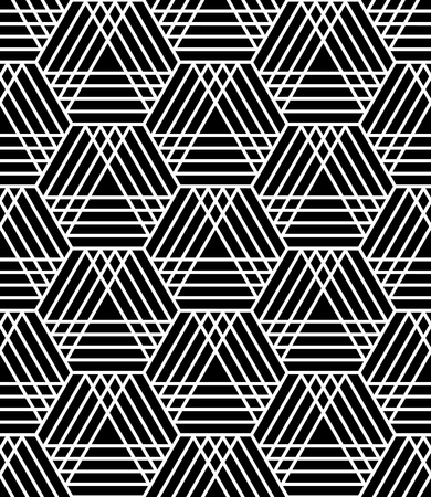 latticed: Seamless hexagons and triangles pattern. Latticed geometric texture. Vector art.