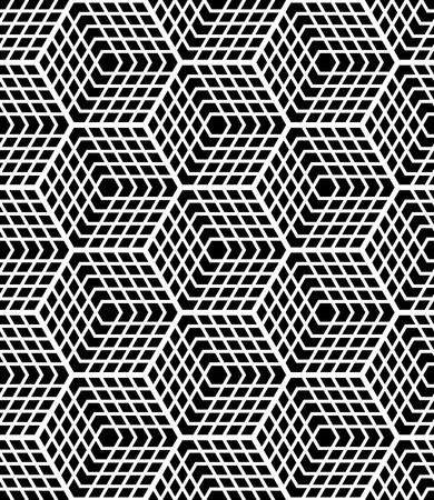 latticed: Seamless op art geometric pattern. Latticed structure. Vector art. Illustration
