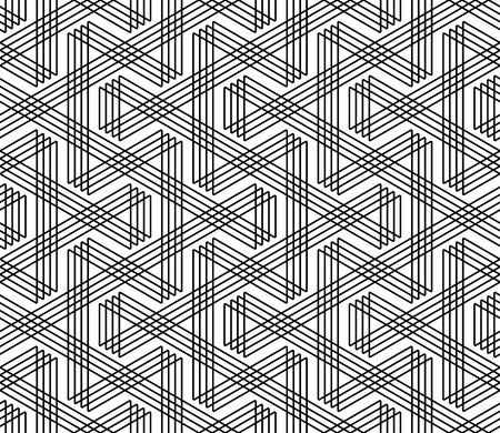 Naadloze zigzag lijnen patroon. Geometrische structuur. Vector art. Stock Illustratie