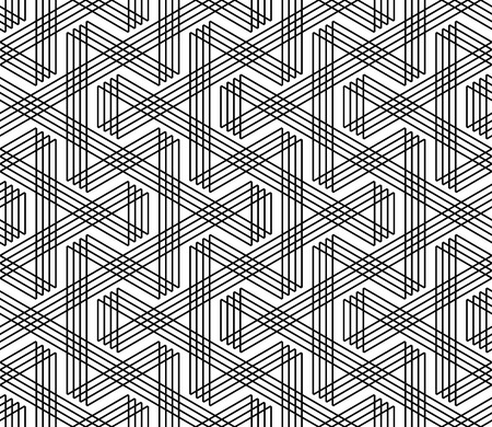 Seamless zigzag lines pattern. Geometric texture. Vector art. Ilustrace