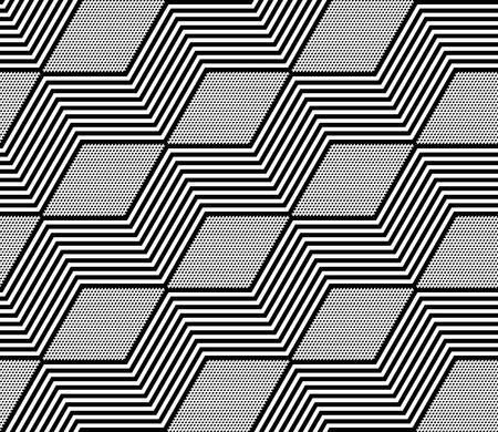 zigzag: Diamonds and zigzag lines pattern. Seamless geometric texture. Vector art. Illustration