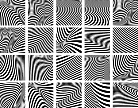 tectonic: Set of striped textures. Vector art.