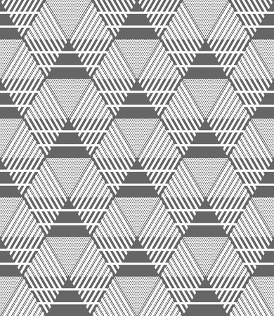 geometric lines: Seamless hexagons, diamonds and triangles pattern. Geometric texture. Vector art.