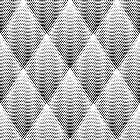 iteration: Seamless diamonds pattern. Vector art.