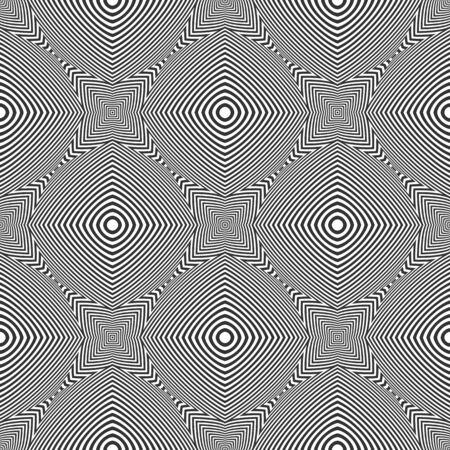 Seamless op art geometric pattern. Illustration