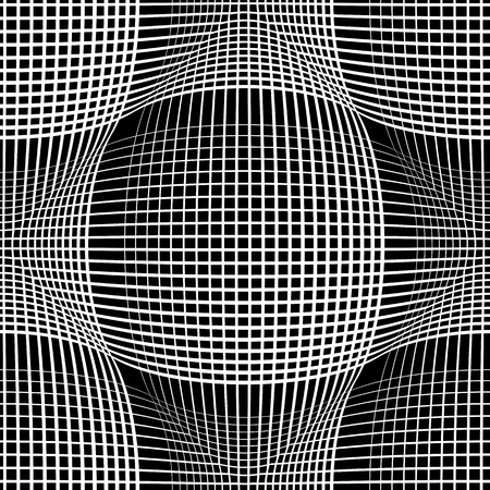concave: Seamless meshy pattern. Convex and concave optical effect.