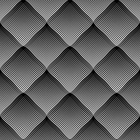 concave: Seamless meshy pattern. Convex and concave optical effect