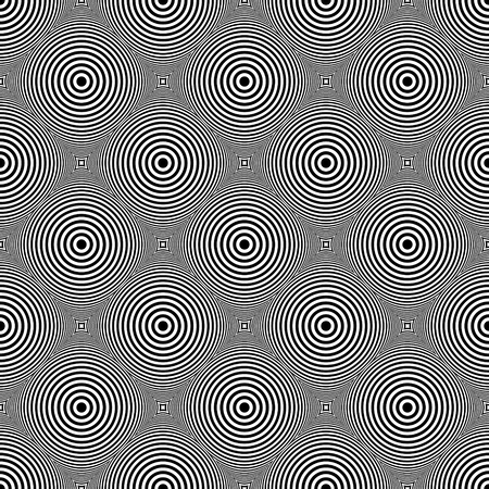 checked: Seamless circles and rings pattern. Geometric checked diagonal texture.