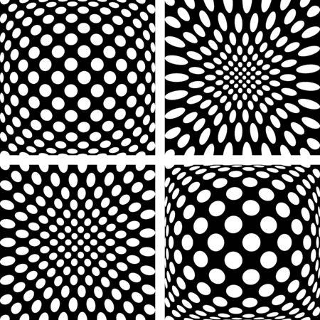 Convex and concave patterns set. Illustration