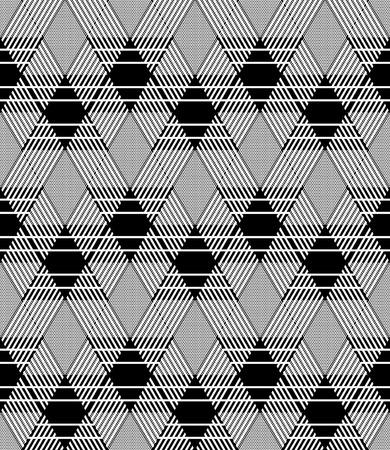 interweaving: Diamonds pattern. Seamless geometric texture. Illustration