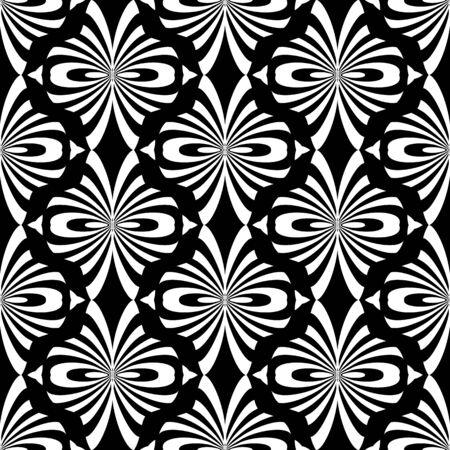 black fabric: Seamless decorative pattern. Oriental design.