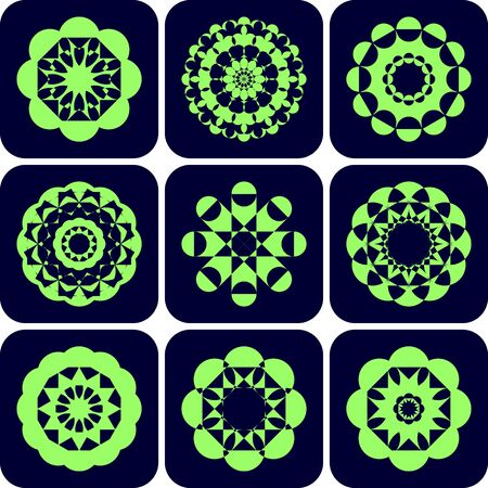 ollection: Decorative design elements. Patterns set. Illustration