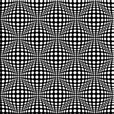 Seamless à pois avec effet optique 3D.